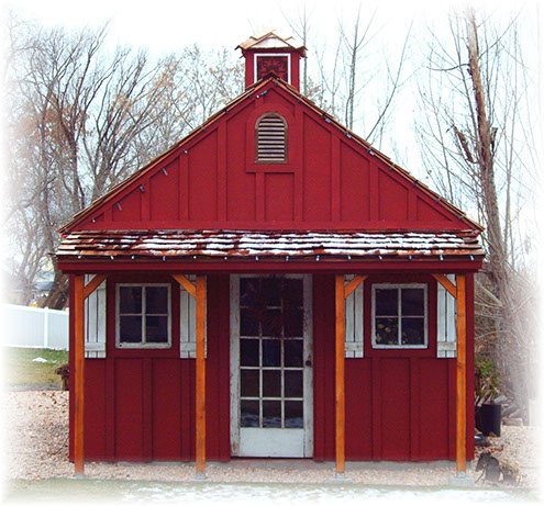 Apex shed company Custom storage shed and playhouse combination