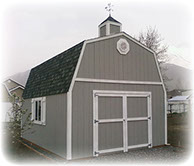 Tall barn shed with cupola