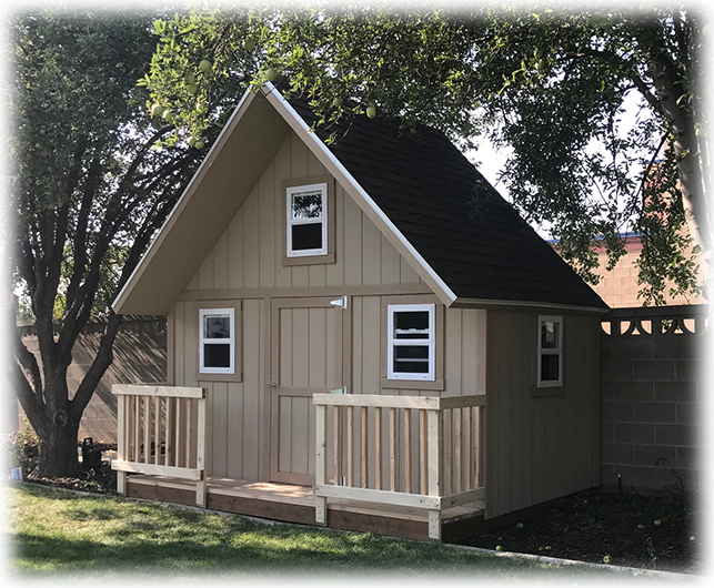 12X10 Playhouse with Porch and Loft
