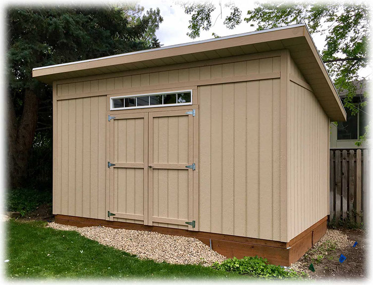 Lean-To Style Storage Sheds