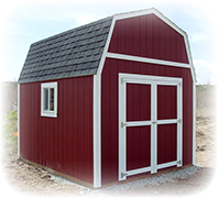 Tall barn Shed with double door and window